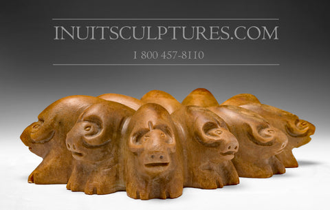 "RESERVED** 12"" Muskox Circle by Jonasie Faber"