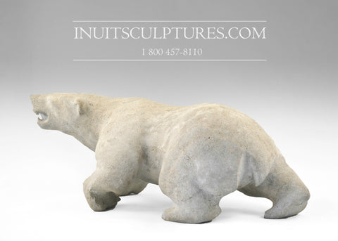 "13"" Polar Bear by Joseph Suqslaq"