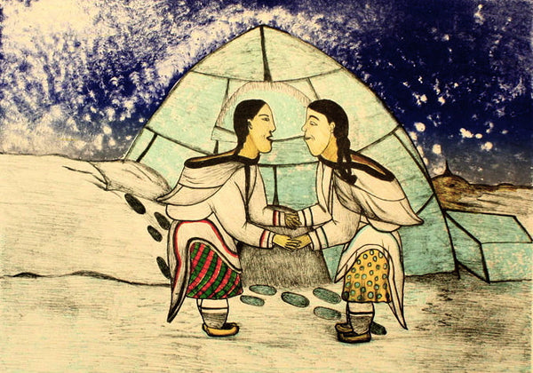 2000 KATAJJAQTUT (THROAT SINGING) by Napachie Pootoogook
