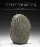 "6"" Faces by Inuit Art Pioneer Late Lucy Tasseor Tutsweetok (1934-2012)"