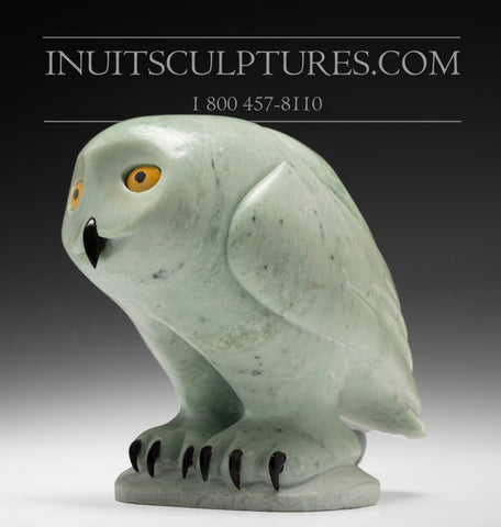 "RESERVED**  8"" Owl by World Famous Manasie Akpaliapik"