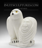 "13"" Owls by World Famous Manasie Akpaliapik"