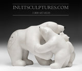 "22"" Mother bear with her cubs by World Famous Manasie Akpaliapik"