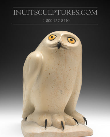 "12"" Pale Green Owl by World Famous Manasie Akpaliapik"