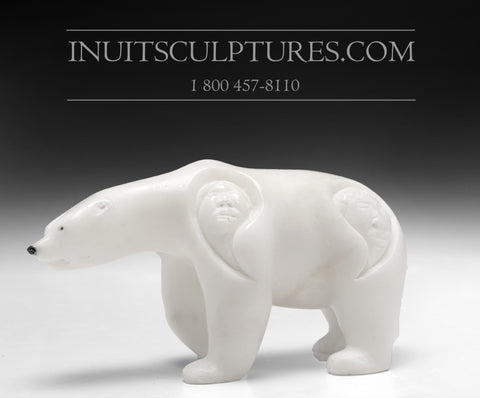 "6"" Curious Bear by World Famous Manasie Akpaliapik"
