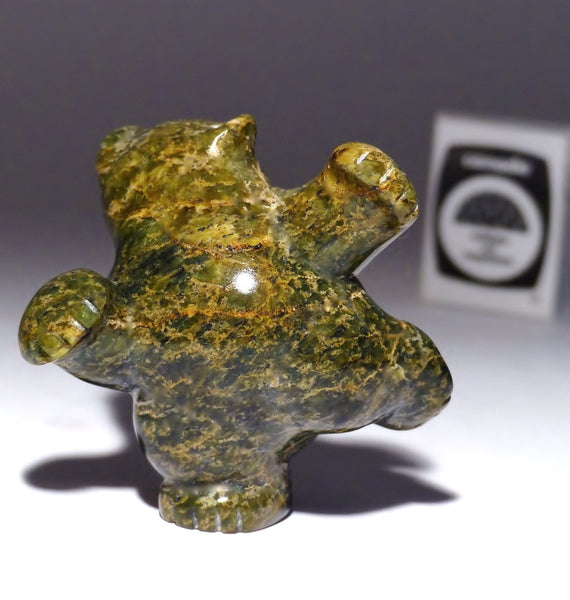 "3"" Fat Brown Dancing Bear by Markosie Papigatook"