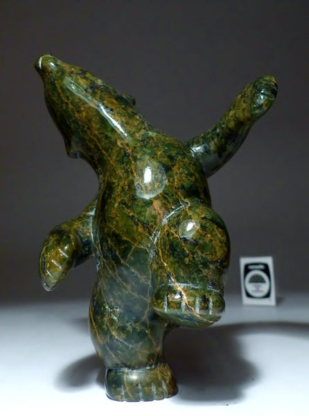 "6.5"" Dancing Bear by Markosie Papigatook"
