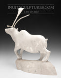 "RESERVED** 21"" Museum Sculpture Camouflage Caribou (2001) by Master Carver Moses Koonark"