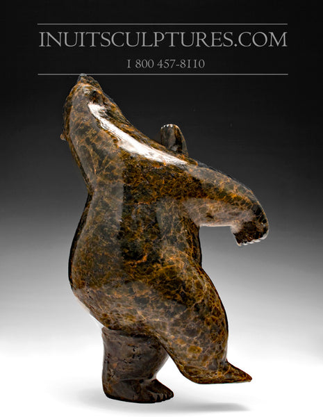 "SOLD - 12"" Last Dancing Bear by Late Noo Atsiaq (1986-2013)"