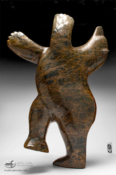 "25"" Arching Back Dancing Bear by Nuna Parr"