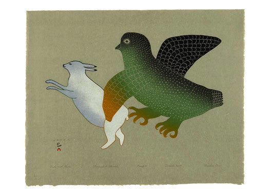 2004 OWL AND HARE by Mialia Jaw