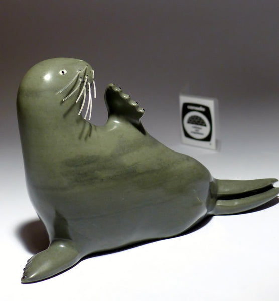 "8.6"" Seal with Whiskers by Famous Jimmy Iqaluq"
