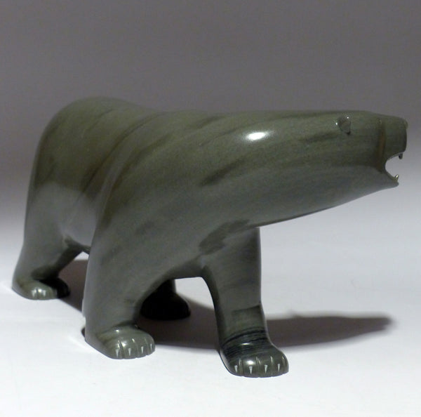 "9"" Green Walking Bear with Teeth by Johnassie Ippak"