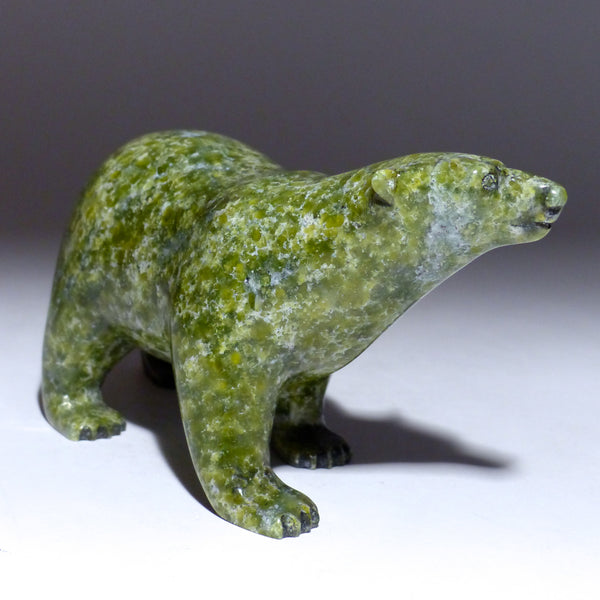 "6.75"" Apple Green Walking Bear by Tim Pee"