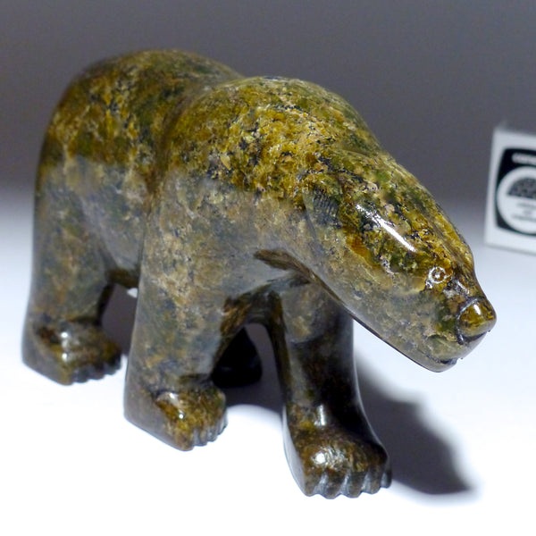 "6.5"" Brown Walking Bear by Pauloosie Tunnillie"