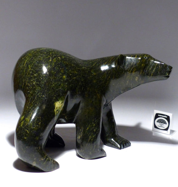 "10""-10 Lbs Walking Bear by Late Noo Atsiaq"