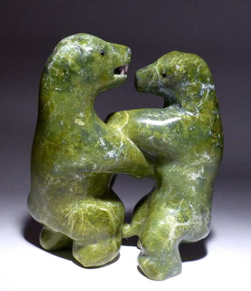 Electric Green Sparring Bears by Moses Kakki