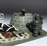 "10"" Exhibition Piece - Life in an Igloo by Jimmy Iqaluq"