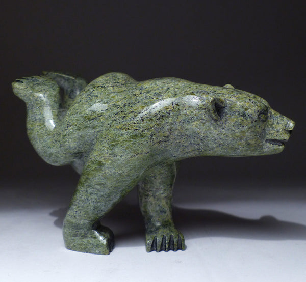 "6"" Diving Bear by Mosesee Pootoogook"
