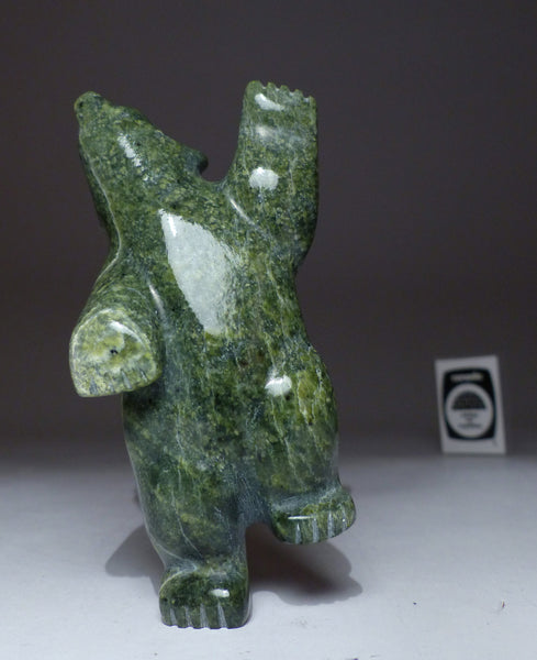 "5"" Emerald Green Dancing Bear by Johnny Papigatook"