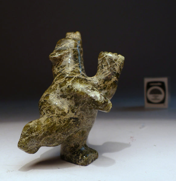 "3.5"" Classic Green Dancing Bear by Adamie Mathewsie"