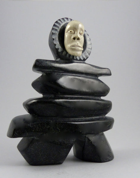 "8.5"" Inukshuk Man by George Noah"