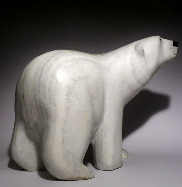 59 lbs White Marble Scenting Bear by Noo Atsiaq