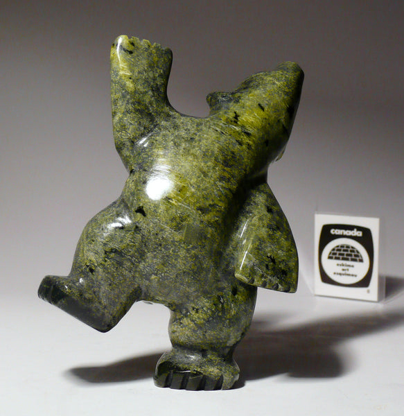 "5"" Green Dancing Bear by Johnny Papigatook"