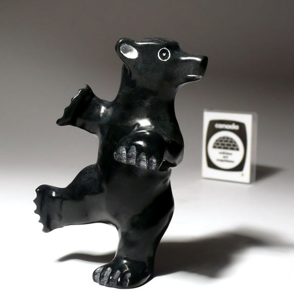 "3.75"" Black Curious Bear Cub by Pavinak Petaulassie"