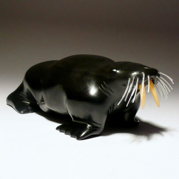 "6"" Black Walrus by Famous Jimmy Iqaluq"