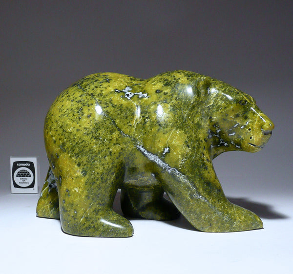"9"" Walking Bear by Pitseolak Oshutsiaq"