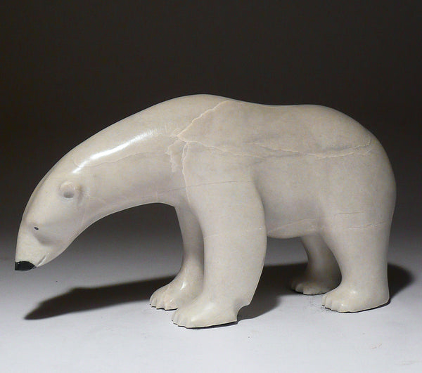 "7"" White Scenting Bear with Black Nose by Lew Phillip"