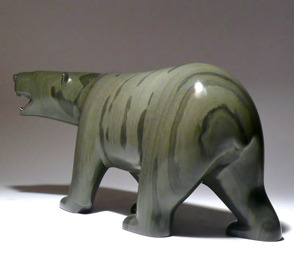 "10"" Green Walking Bear with Teeth by Johnassie Ippak"