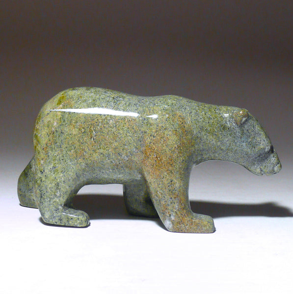 "4"" Light Green Walking Bear by Tim Pee"