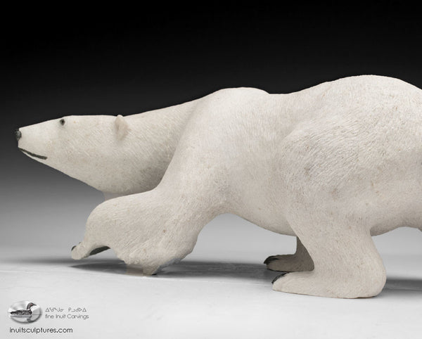"17"" Walking Bear by World Famous Paul Quviq Malliki"