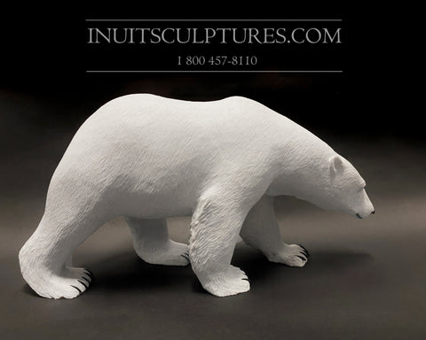 "24"" Museum Calibre Polar Bear by World Famous Paul Quviq Malliki"