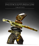 "18"" Masterful Inukshuk by Paul Bruneau"