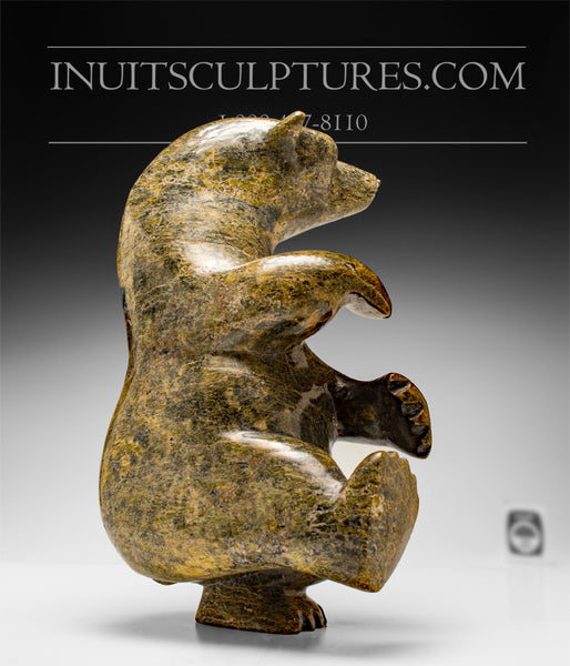 "Voluptuous and Large 13"" 15 lbs Dancing Bear by Late Peter Parr (1970-2012)"