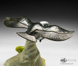 "8"" Eagle with Green Fish by Pitseolak (Pits) Qimirpik"