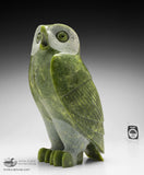 "10"" Apple Green Owl by Pitseolak Qimirpik"