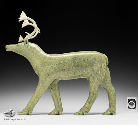 "14"" Caribou by Pitseolak Niviaqsi - Museum Quality"