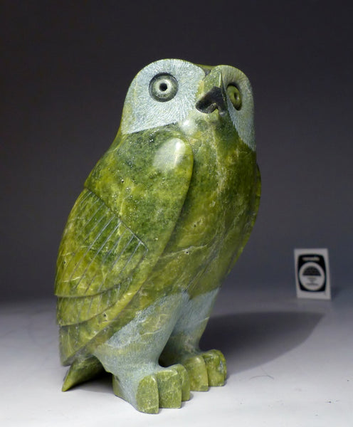 "Apple Green 7"" Owl by Pits Qimirpik"