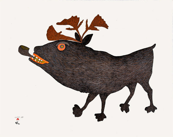 2015 SMOKING CARIBOU by Papiara Tukiki