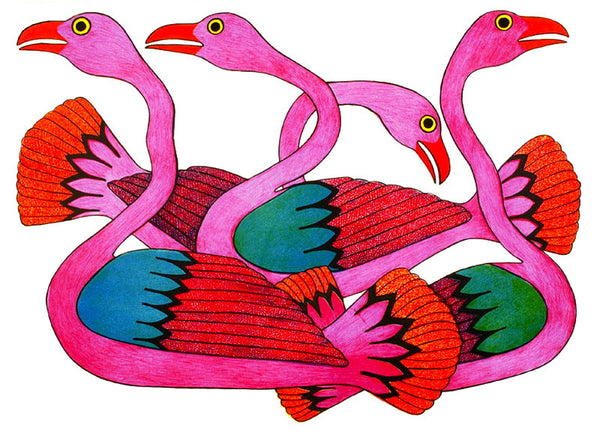 2002 SWANS AT SUNSET by Kenojuak Ashevak