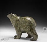 "9.5"" Dark Green Prowling Walking Bear by Tim Pee"