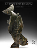"RESERVED** 14"" Arctic Char Spirit Fish by Toonoo Sharky"