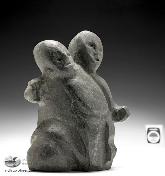 "7"" Mother and Child by Famous Inuit Art Pioneer Tuna Iqulik, 1997"
