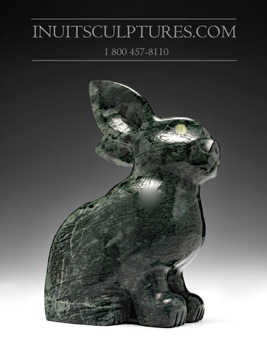 "10"" Dark Green Arctic Hare by Johnnee Lee Judea"
