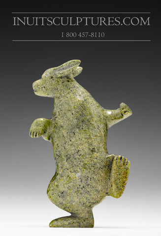 "RESERVED** 5"" Happy Dancing Arctic Hare by Pits Qimirpik from Cape Dorset"