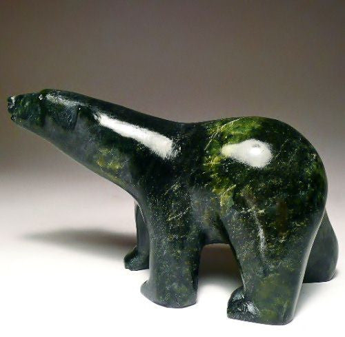 "6 1/8"" Walking Polar Bear by Noo Atsiaq"